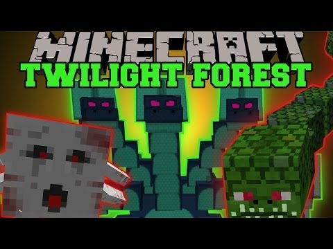 Minecraft: TWILIGHT FOREST MOD DIMENSION EPIC BOSSES AND STRUCTURES Mod Showcase
