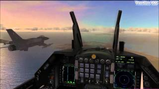 FSX-Hellenic F-16C blk52+ formation flight abone the Aegean