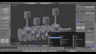 Pistones en movimiento Tutorial Blender 2 69