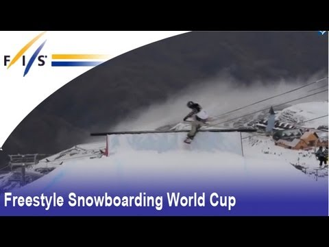 FIS Snowboard World Cup Slopestyle Training Cardrona Winter Games NZ 2013