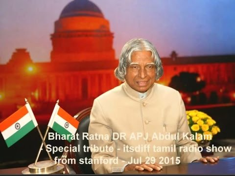 DR  APJ Abdul Kalam - Stanford Radio itsdiff tamil show  - special tribute