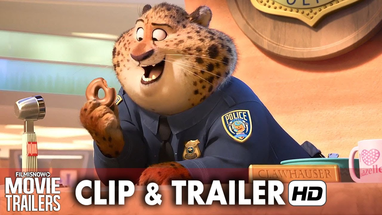 ZOOTOPIA New Clip 'Meet Clawhauser' + Trailer - Disney animation [HD]