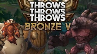 BRONZE V THROWS THROWS THROWS - Which team can throw harder? - RossBoomsocks Bronze spectates