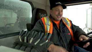 A shift in the life of a snowplow driver