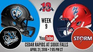 Week 9   Cedar Rapids Titans at Sioux Falls Storm