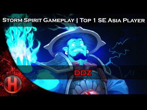 ddz 7130 MMR Storm Spirit Gameplay Dota 2  Top 1 SE Asia