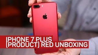Red iPhone 7 Plus unboxing Checking out the red of ProductRed