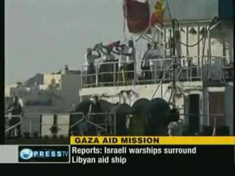 israeli PIRATES SURROUND LIBYAN AID VESSEL