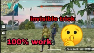 Free fire invisible trick 100% work