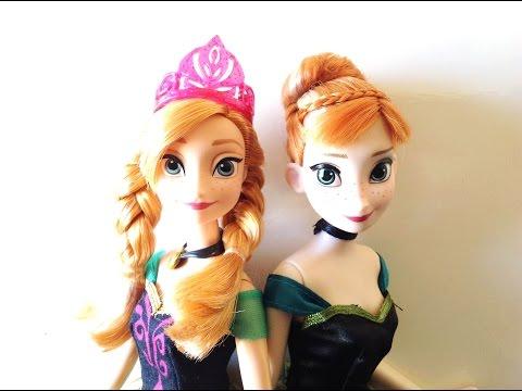 Disney Store / Mattel: Frozen | Coronation Anna Doll Comparison And Review