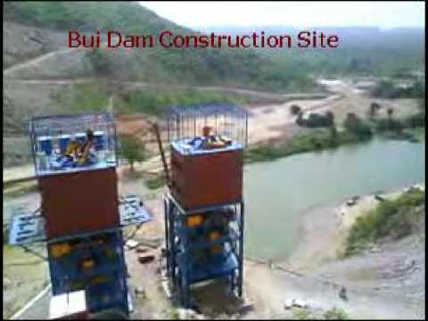 Bui Dam Construction Site video