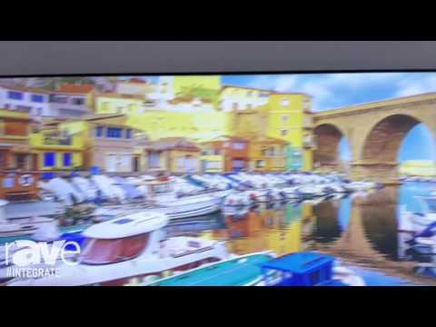 Integrate 2016: Optoma Demos the LCT100 Laser Ultra Short Throw Projector