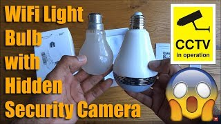 Unboxing and Setup of a MECO WiFi Light Bulb with Hidden Security Camera