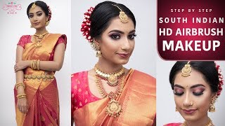 How To Do Airbrush Makeup | South Indian Makeup Look | HD Makeup Tutorial | Chandi Singh