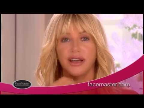 Suzanne Somers Demonstrates Her FaceMaster Facial Toning Anti-Aging System