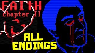 FAITH : Chapter II - Retro Horror ( ALL ENDINGS / FULL PLAYTHROUGH )Manly Let's Play
