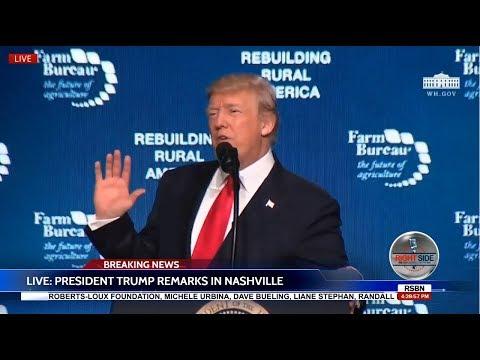 🔴FULL: President DONALD TRUMP Speech in Nashville at American Farm Bureau Convention 1/8/18