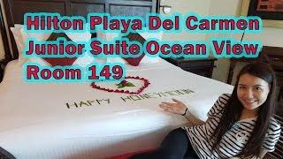 Hilton Playa Del Carmen Resort // Junior Suite Ocean Vew // Room Tour 149