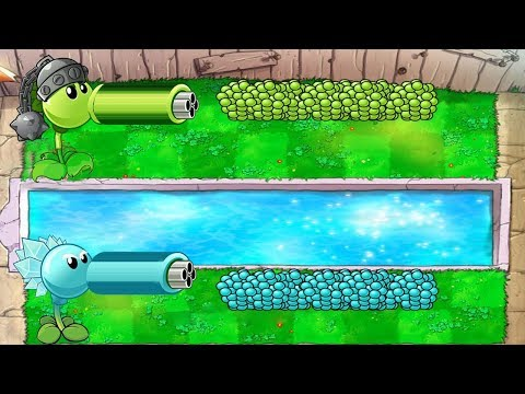 Plants vs Zombies Hack - Gatling Pea vs Snow Pea vs Zomboss