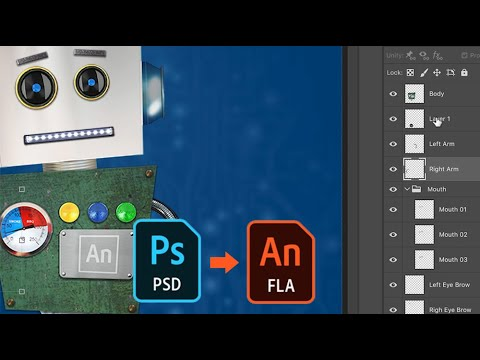 Adobe Animate: How to import Photoshop file into Adobe Animate