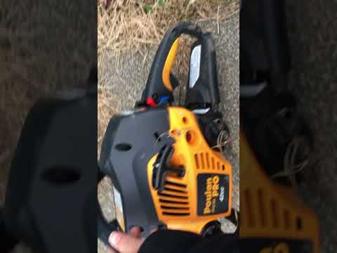 Don't buy this F!@ing Chainsaw POULAN PRO REVIEW. The Tree Won.