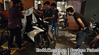 Yamaha R15 V3 Modification| Custom Paint | Cheap and best Quality | Devil Mode | HTRZ Mods