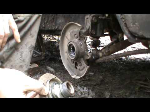 Замена переднего подшипника ступицы на рено логан своими руками