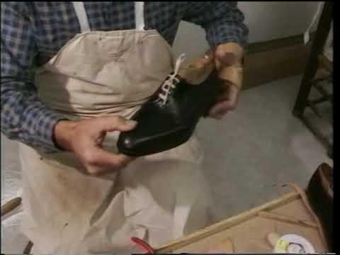Montado a mano de calzado para hombre tipo empalmillado.mpg