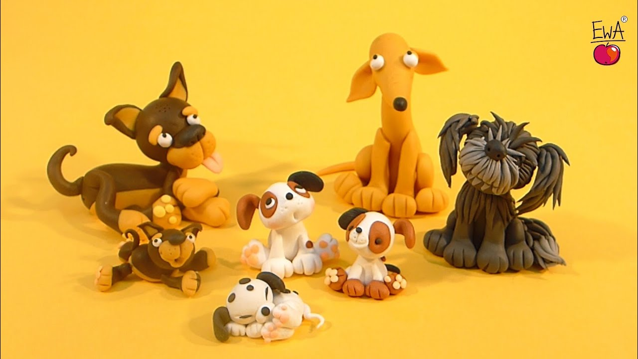 How To Make A Clay Dog Youtube