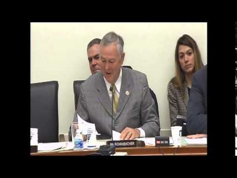 Chairman Rohrabacher Questions Witnesses at Hearing on Water Sharing Conflicts