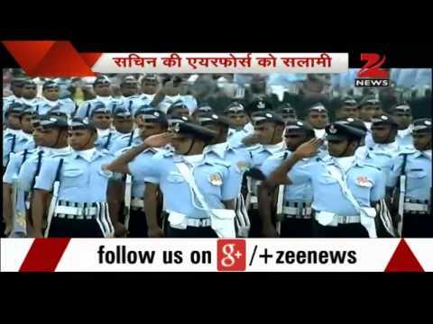 Sachin Tendulkar attends 82nd Indian Air Force parade