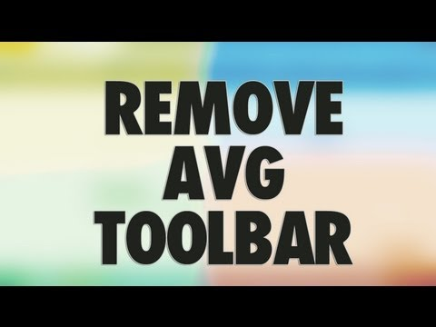 Remove AVG Security Toolbar