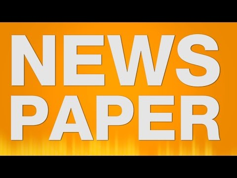 Newspaper Sound Effect - Reading Newspaper Lesen Seite Umblättern Sound video