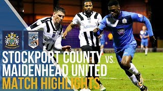 FA Trophy - Stockport County Vs Maidenhead United - Match Highlights - 07.02.18