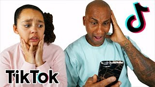 DAD REACTS TO TIANA'S TIC TOKS!!