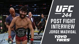 "UFC 244: Jorge Masvidal -  ""I just wanted to baptize him"""