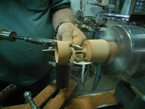 como fazer uma taça de madeira