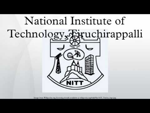 National Institute of Technology, Tiruchirappalli