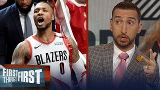 Damian Lillard drops 50 and hits buzzer beater to eliminate Thunder | NBA | FIRST THINGS FIRST