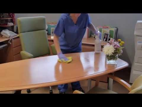How To Clean An Office Professionally - Office Cleaning Janitorial Training Video