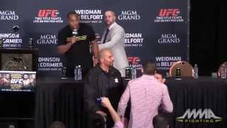 Daniel Cormier, Ryan Bader Clash at UFC 187 Post-Fight Press Conference