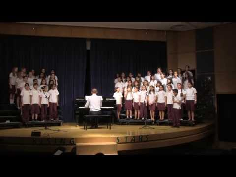Primary Students in Qatar Academy Sing