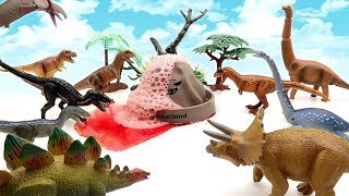 Learn Names Of Dinosaurs For Kids. VOLCANO ERUPTION With Science Kit! Jurassic World 2 Toys