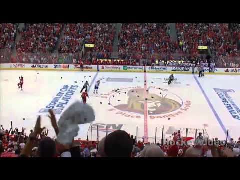 Full line brawl (Fight/Драка) Montreal Canadiens vs Ottawa Senators . May 5. 2013