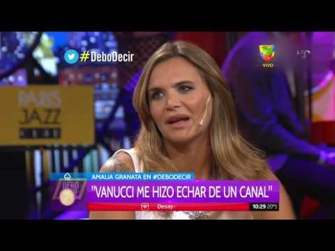 ¿Victoria Vannucci hizo echar a Amalia Granata de un programa de televisión?
