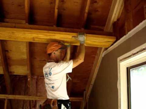 Beam Ceiling Installation Installing Lvl Support Beams
