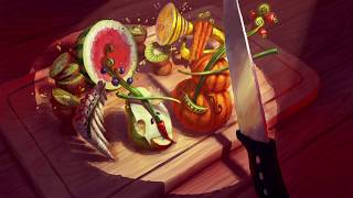 Dreams PS4: Fruigetable Orchestra | Digital Painting Process in Clip Studio Paint