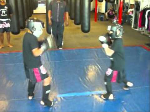8yr.old kickboxing sparring Image 1