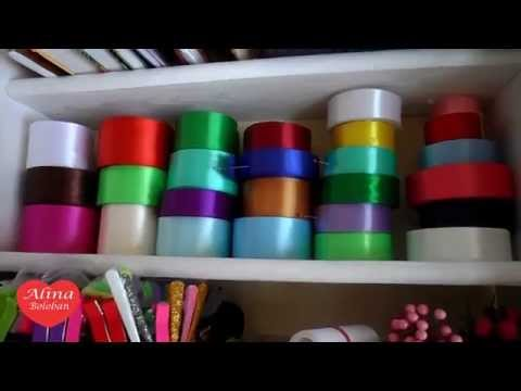 Алина Болобан : Как Я Храню Ленты для Канзаши ( Видеоответ )
