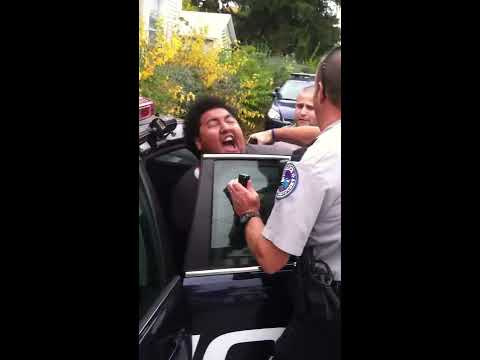 Man tasered while in handcuffs: Police Brutality